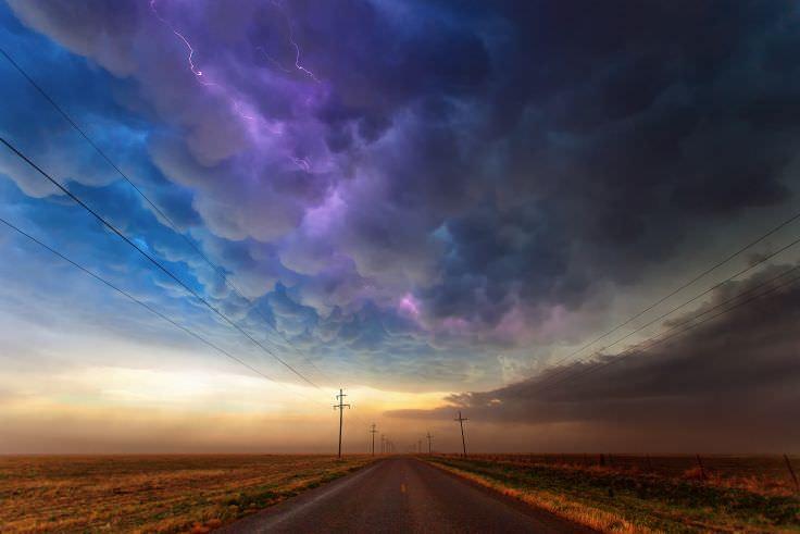 Texas Road Storm Wallpaper
