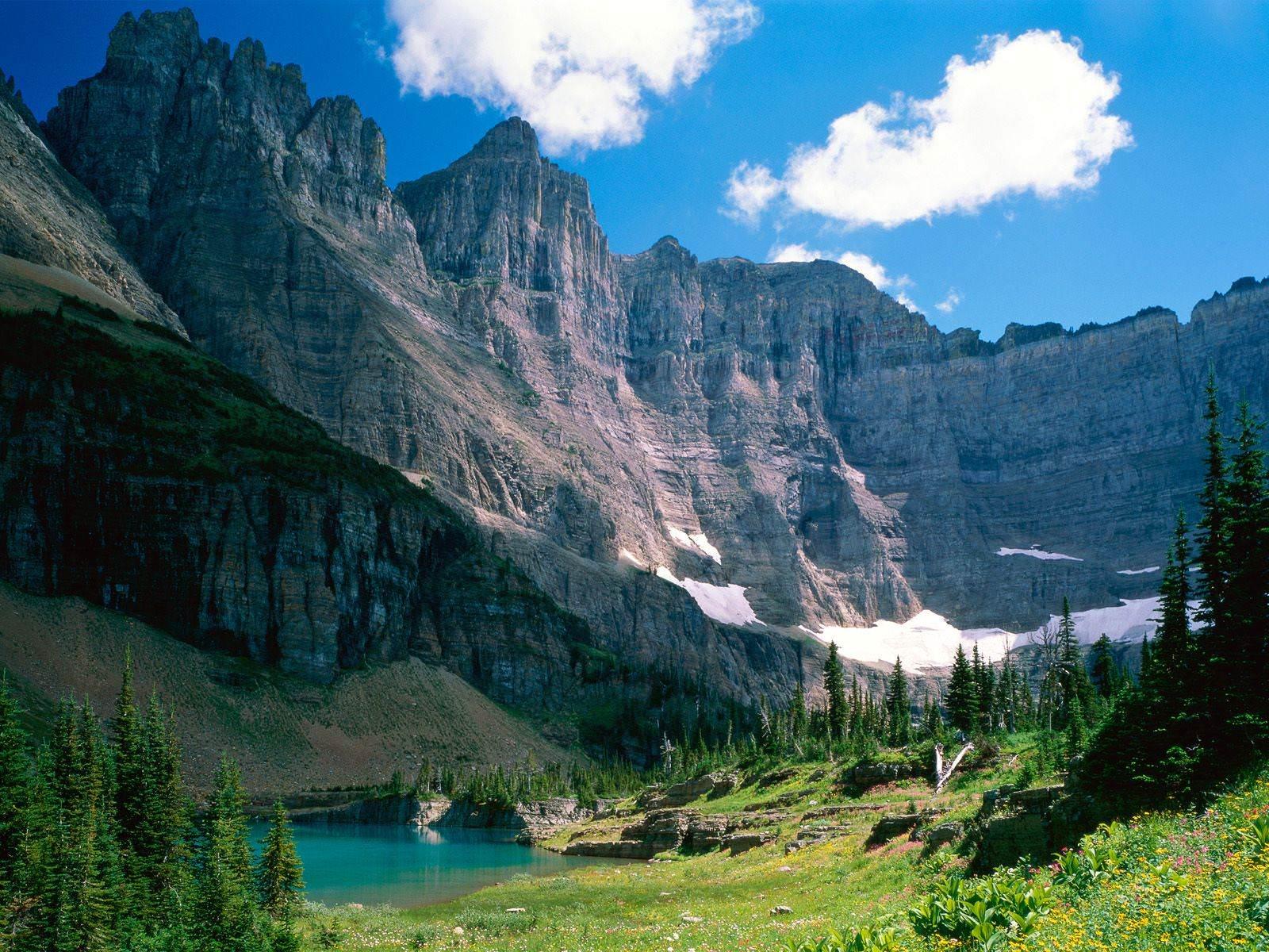 lake canyon mountain wallpaper