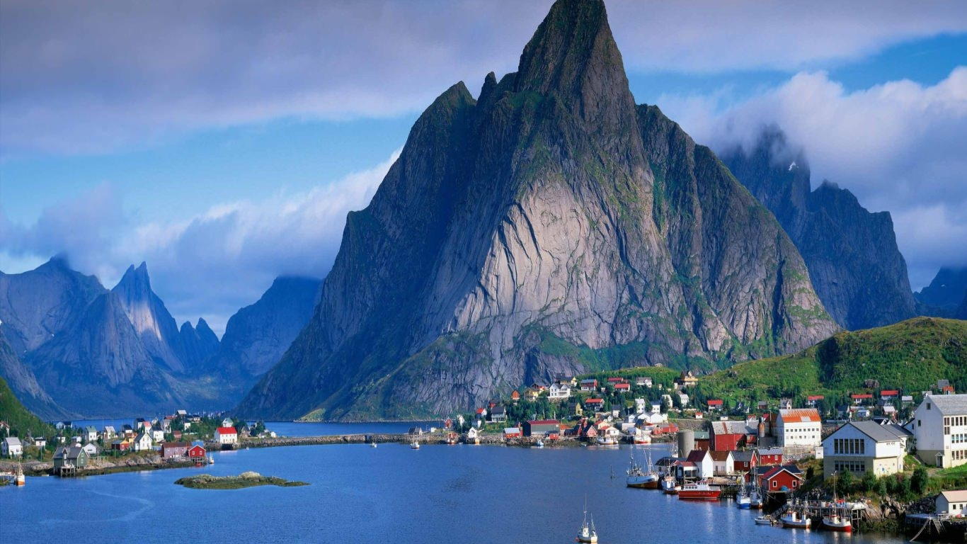 Norway Mountain Scenery Wallpaper