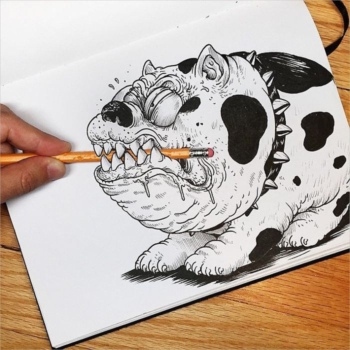 Funny Dog Drawing