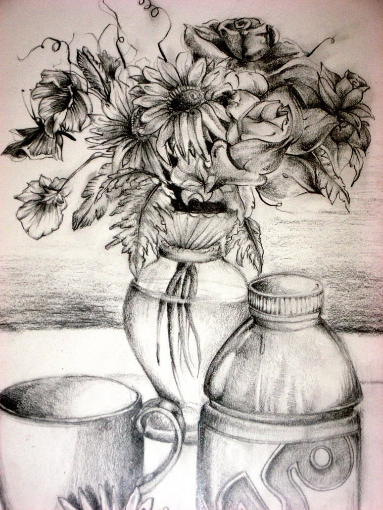 16 Flower Drawings Jpg Download