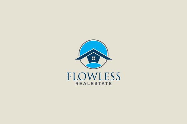 Flowless Real Estate Logo Design