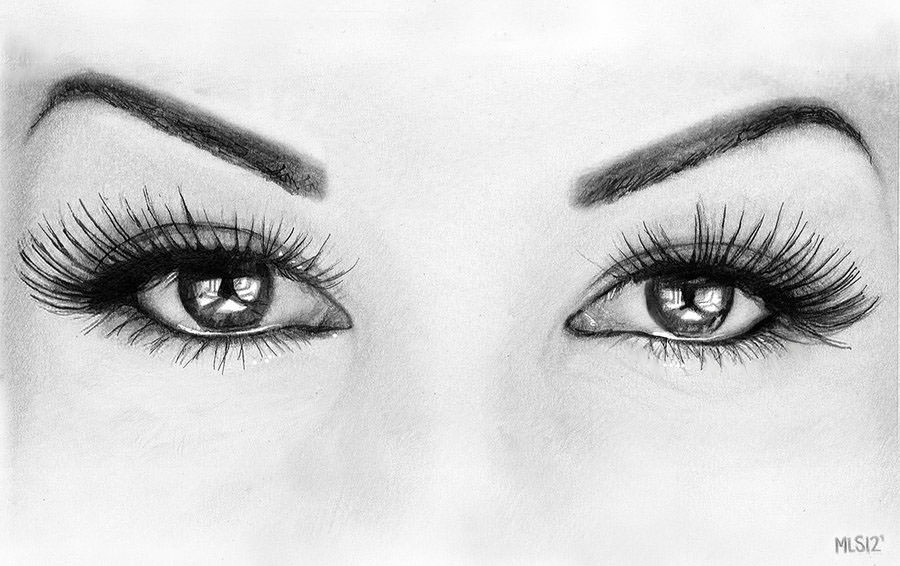 15+ Pencil Drawings of Eyes - JPG Download