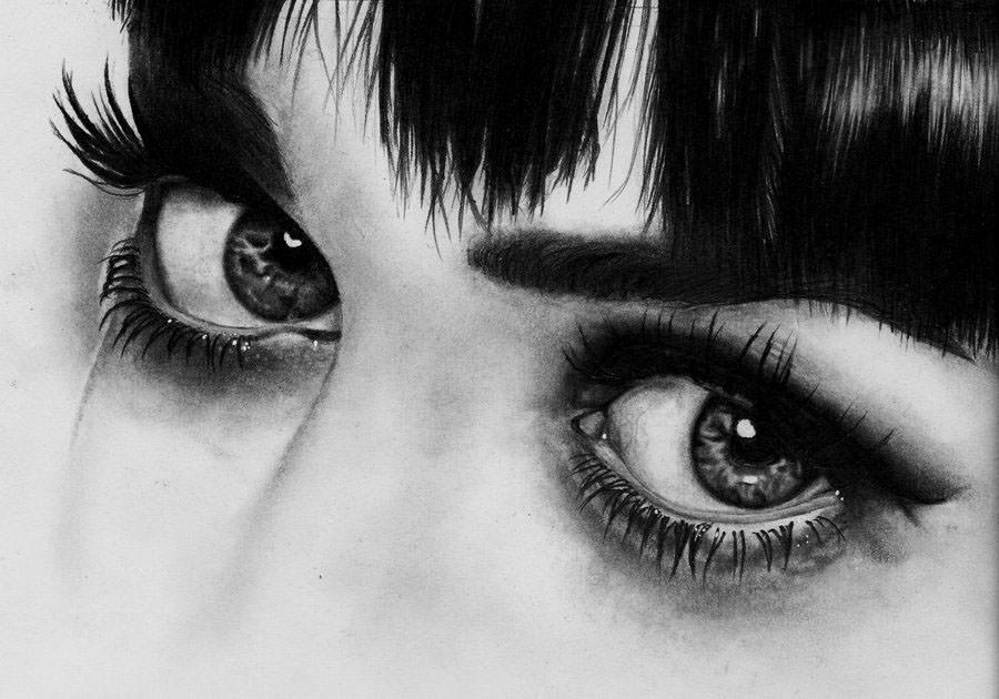 Beautiful Eyes Pencil Drawing
