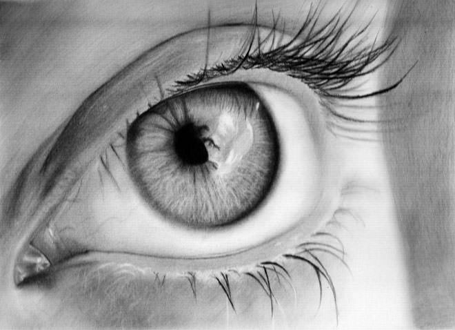 Fabulous Drawing of Eye with Pencil