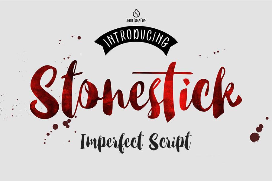 Excellent Stonestick Script Font