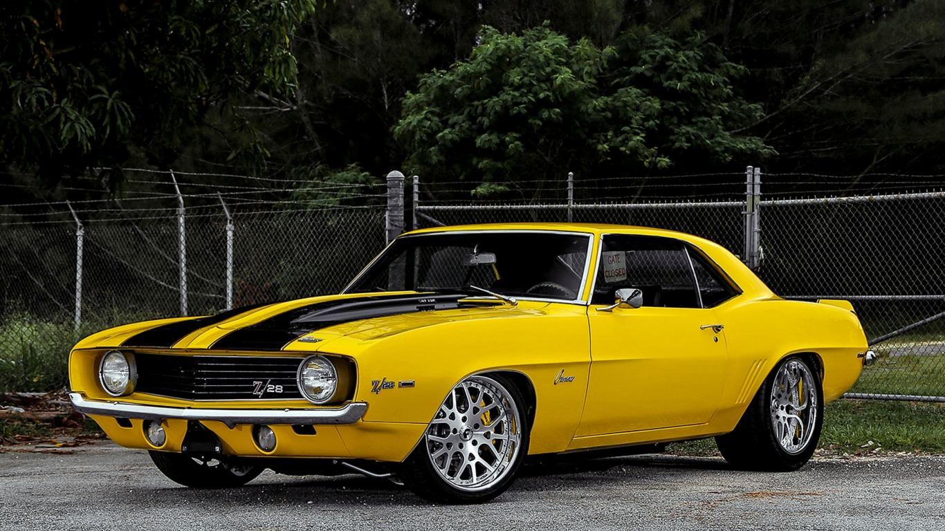 1969 Camero Z/28 Yellow Wallpaper
