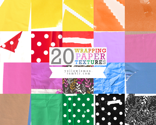 20 High Quality Wrapping Paper Textures for Graphic Designers