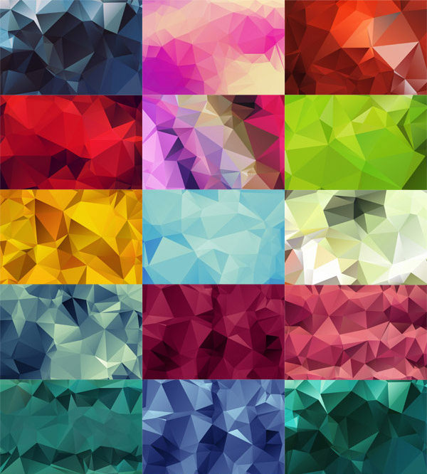 20 High-Res Geometric Polygon Backgrounds