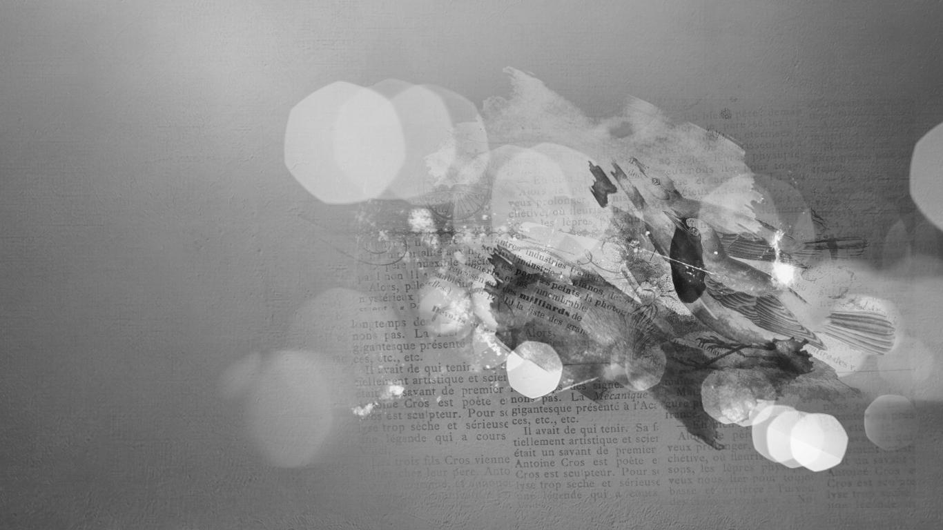 Black & White Grunge Bokeh Textures