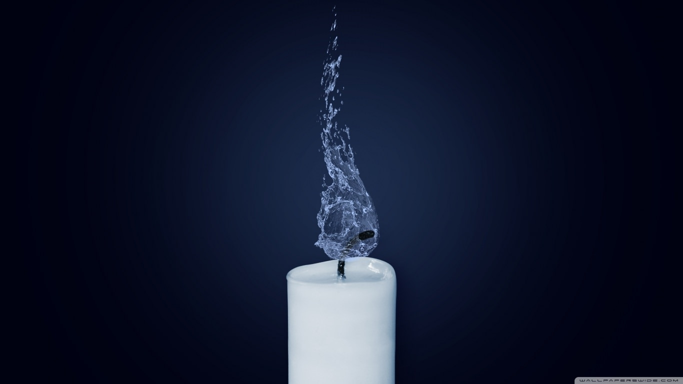 Water Candle Wallpaper