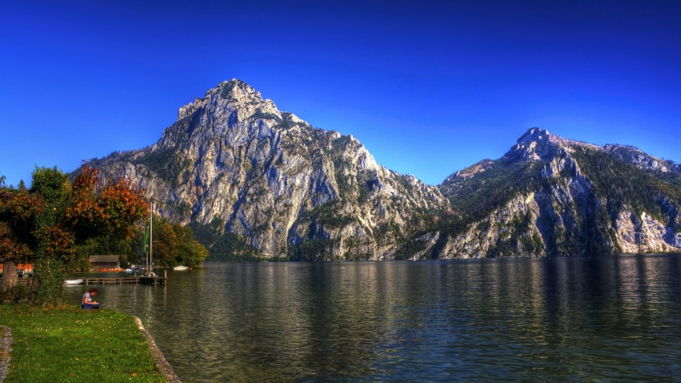 Lake at Austrian Alps Wallpaper