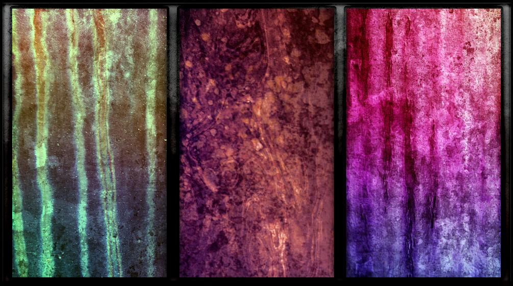 Vibrant grunge Texture Set