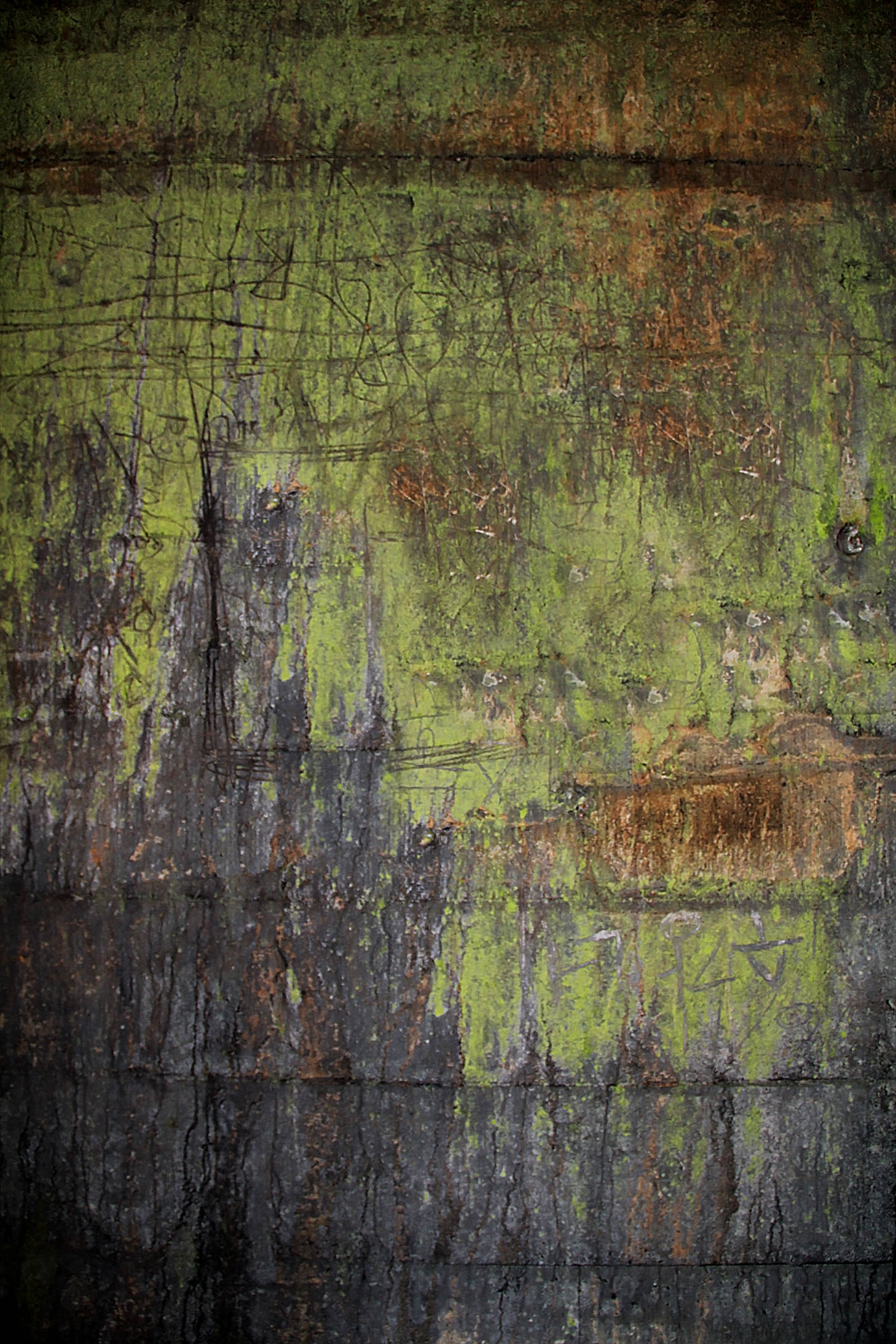 Green Colored Grunge Texture