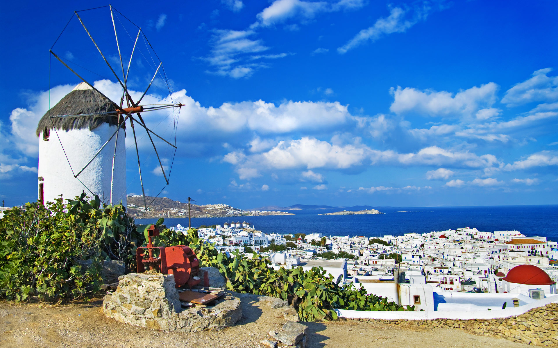 Mykonos Greece In High Resolution Hd Desktop Wallpaper: 21+ Travel Wallpapers, Backgrounds, Images