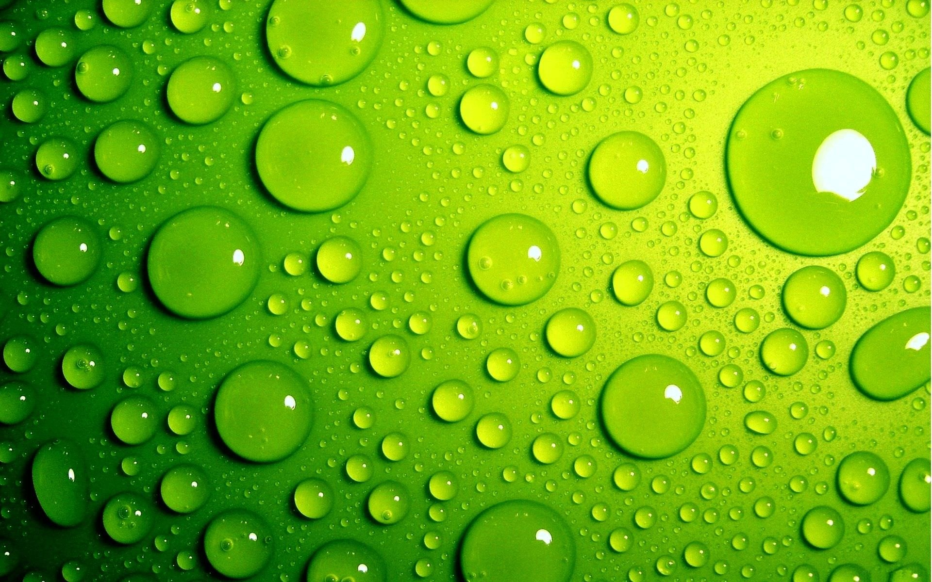 Green Bubbles Background