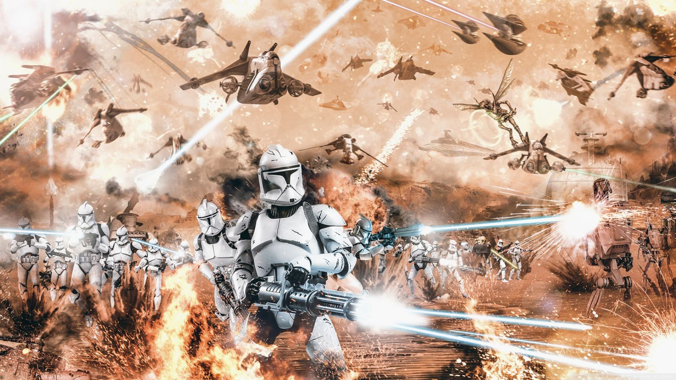 Battle of Geonosis Star Wars Wallpaper