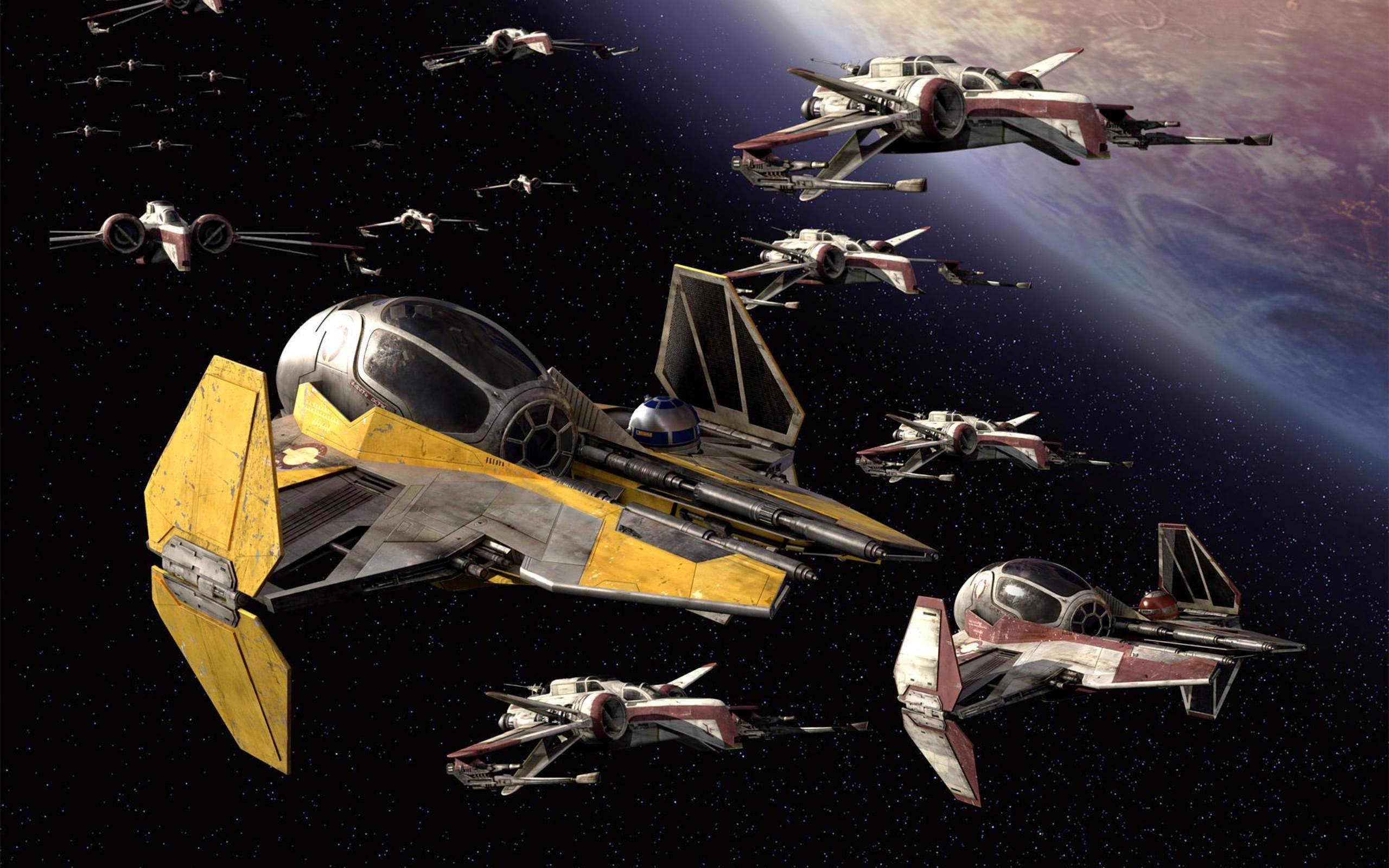 Star Wars X Wing Planet Wallpaper
