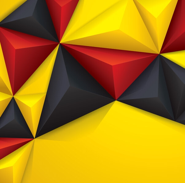 3D Vector Polygon background