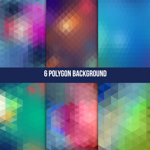 6 Polygonal Background vector