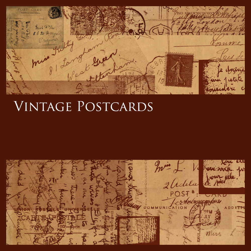 vintage postcards set for free