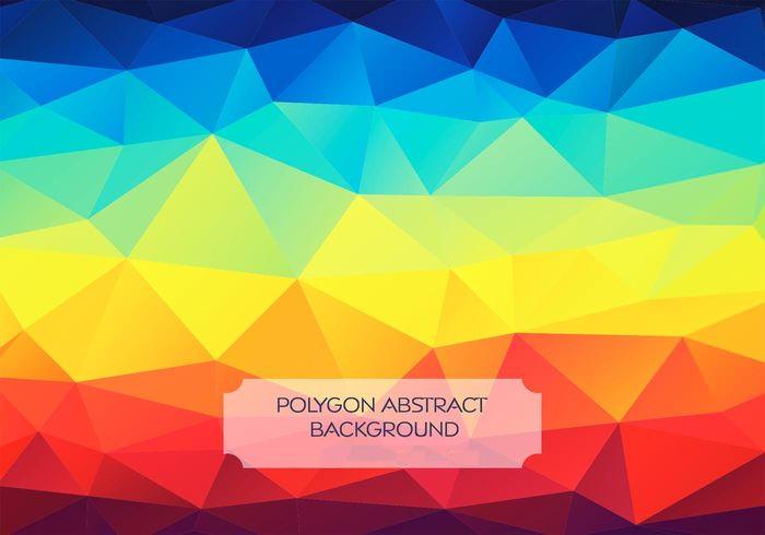 rainbow polygon background vector