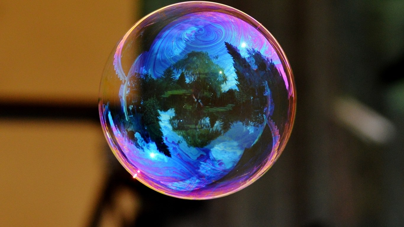 soap bubble colorful rainbow reflection hd background wallpaper