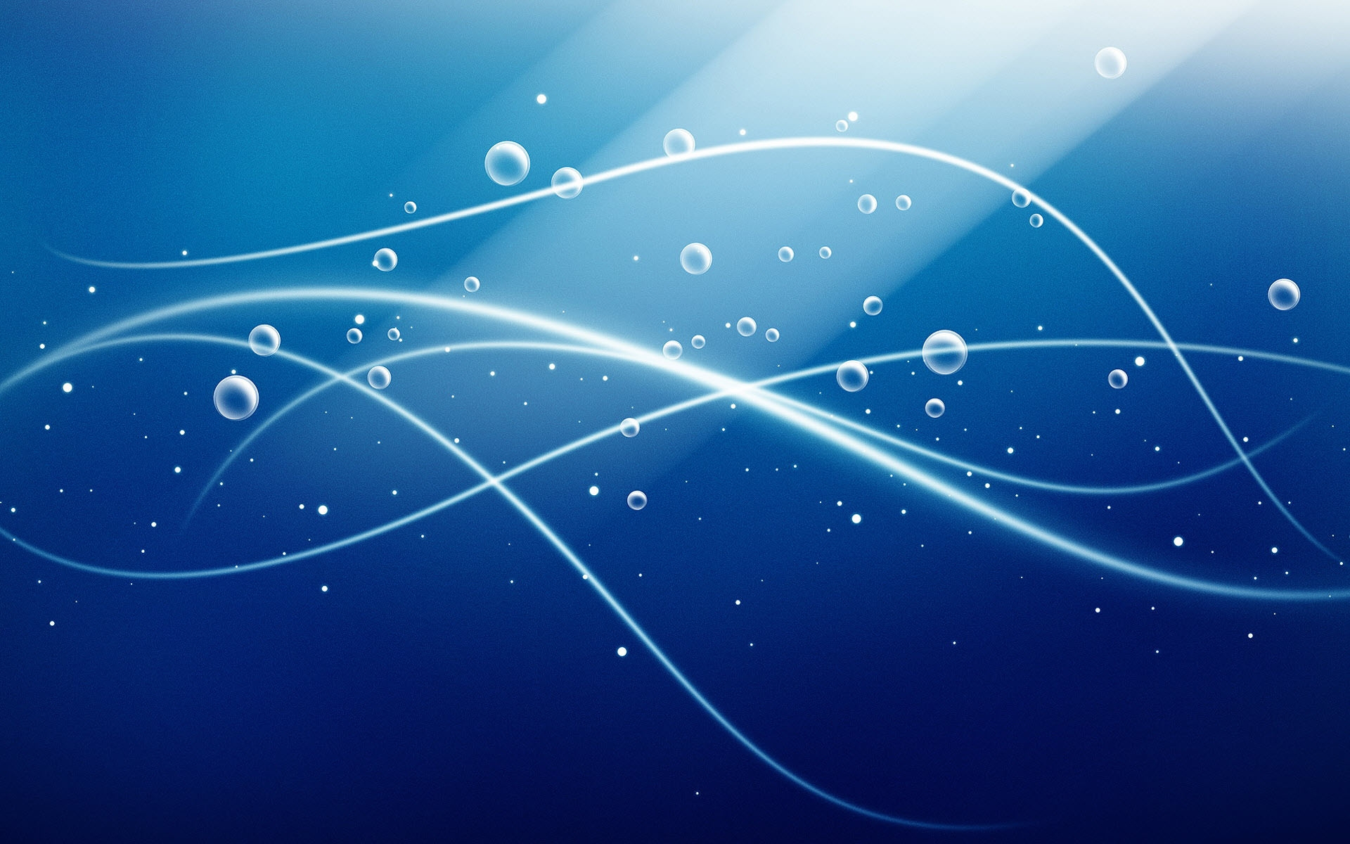 Blue Bubbles Waves Wallpaper