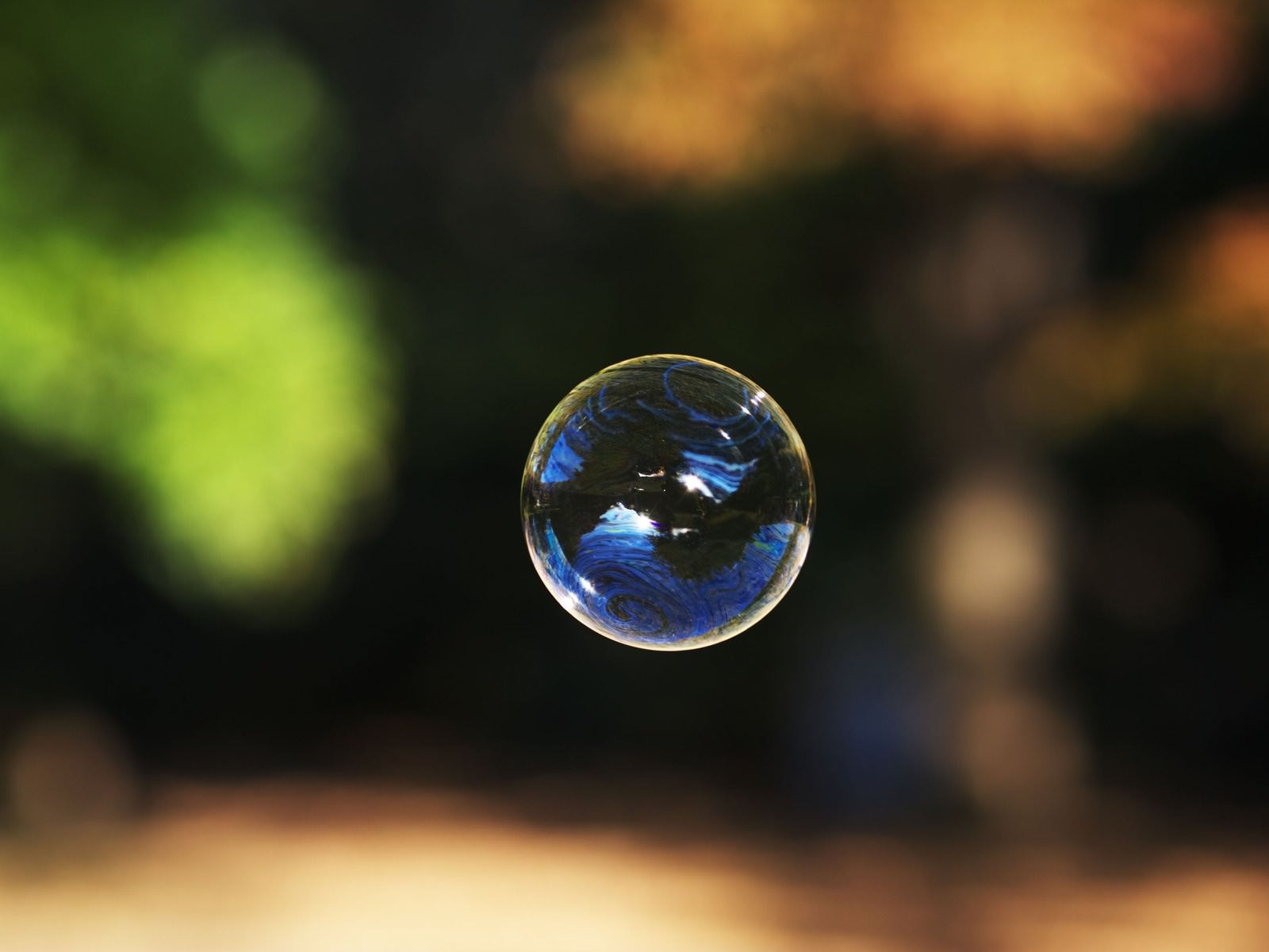 Bubble on Blurred Background