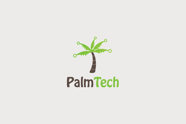 Palm Tech Logo Design For You