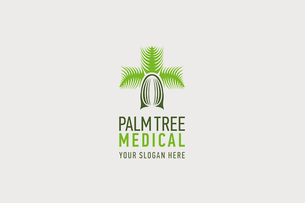 Palm Tree Medical Logo Design
