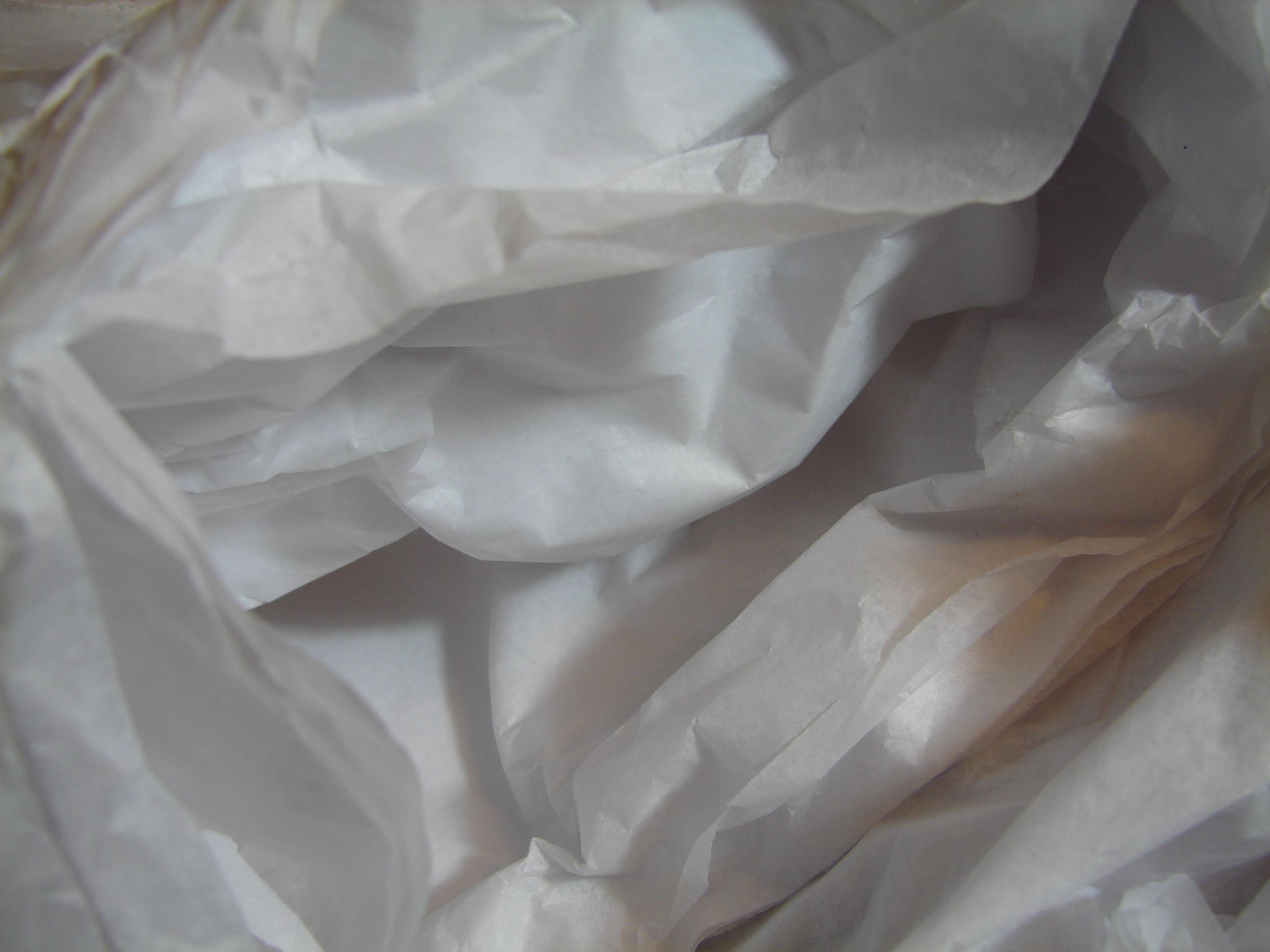 Wrinkled White Tissue paper Texture