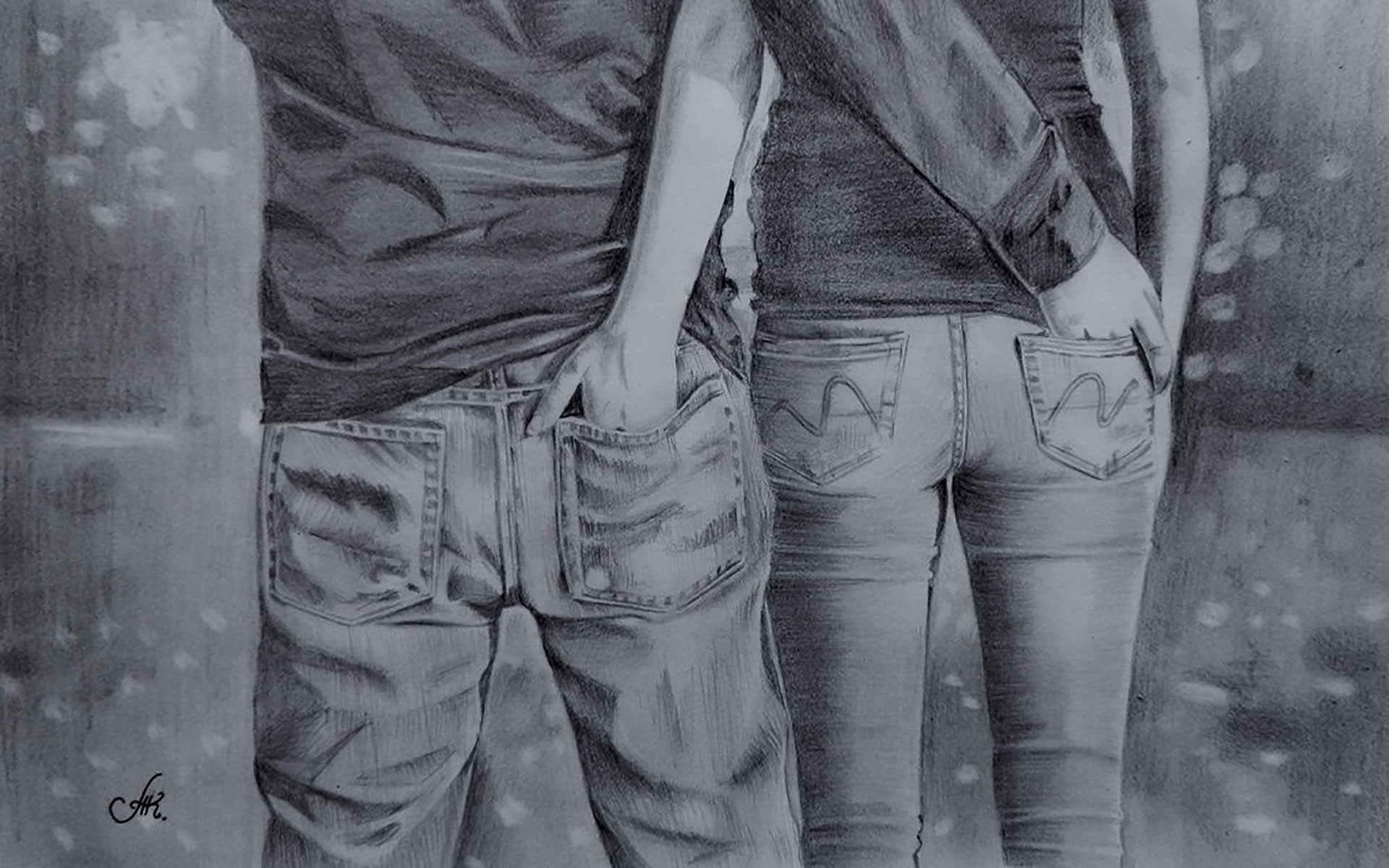 Touch of you love drawing
