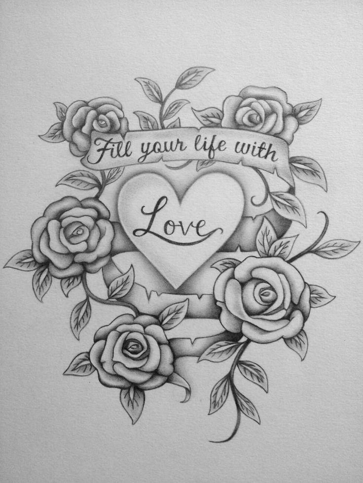 Fantastic love quote drawing