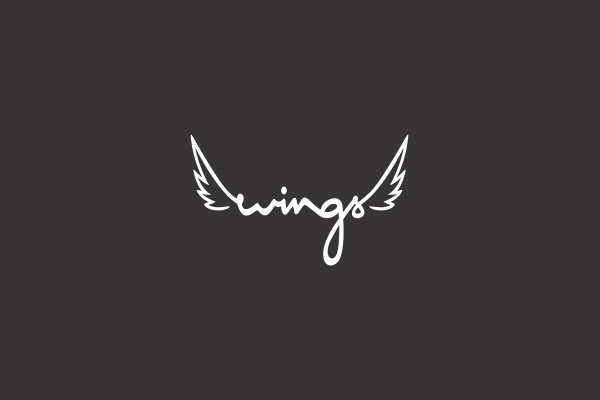 Stylish Wings Logo Design