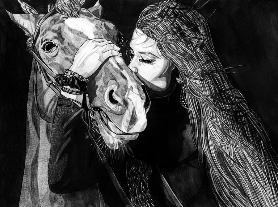 Girl with the Horse Drawing