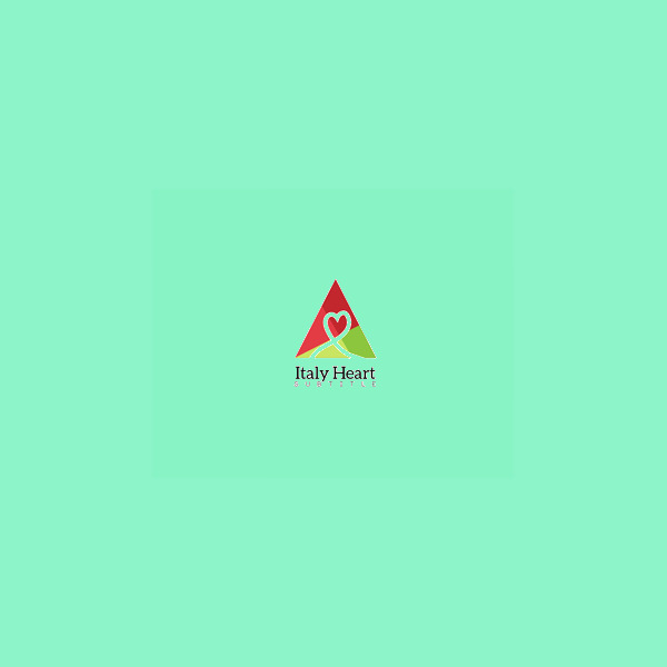 Italy Heart Triangle Logo