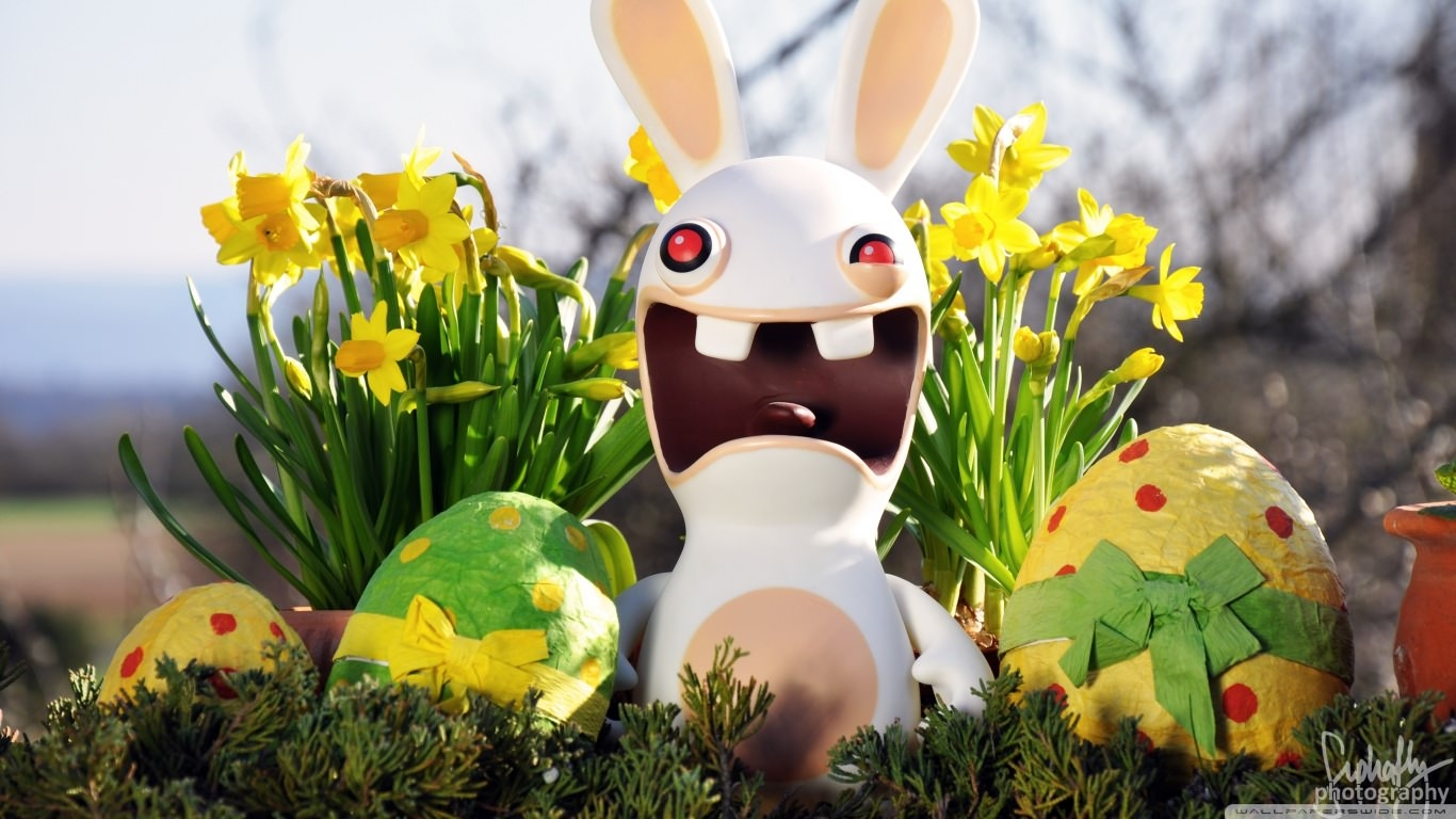 Funny Easter Bunny Wallpaper