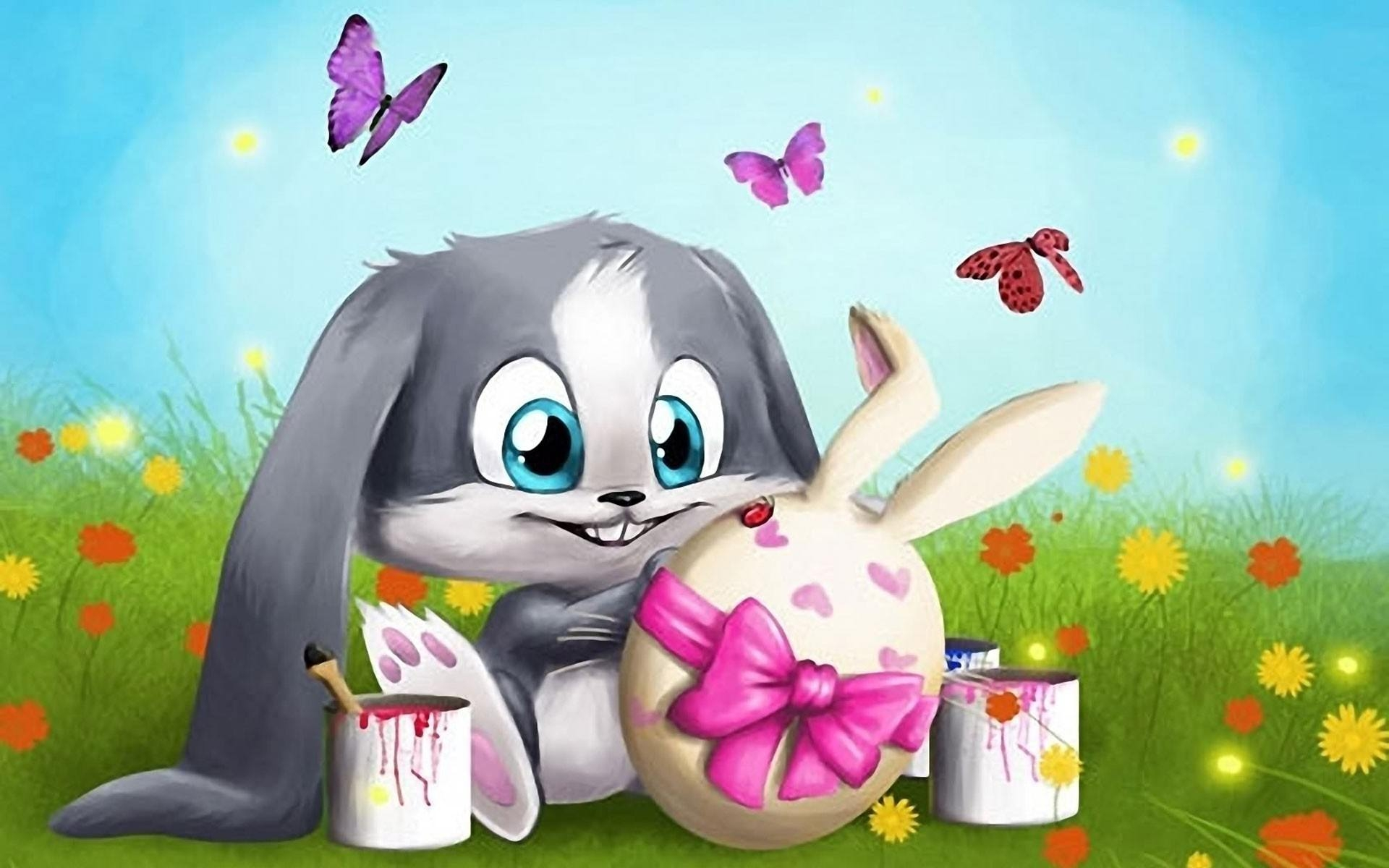 Cartoon Easter Bunny For Download