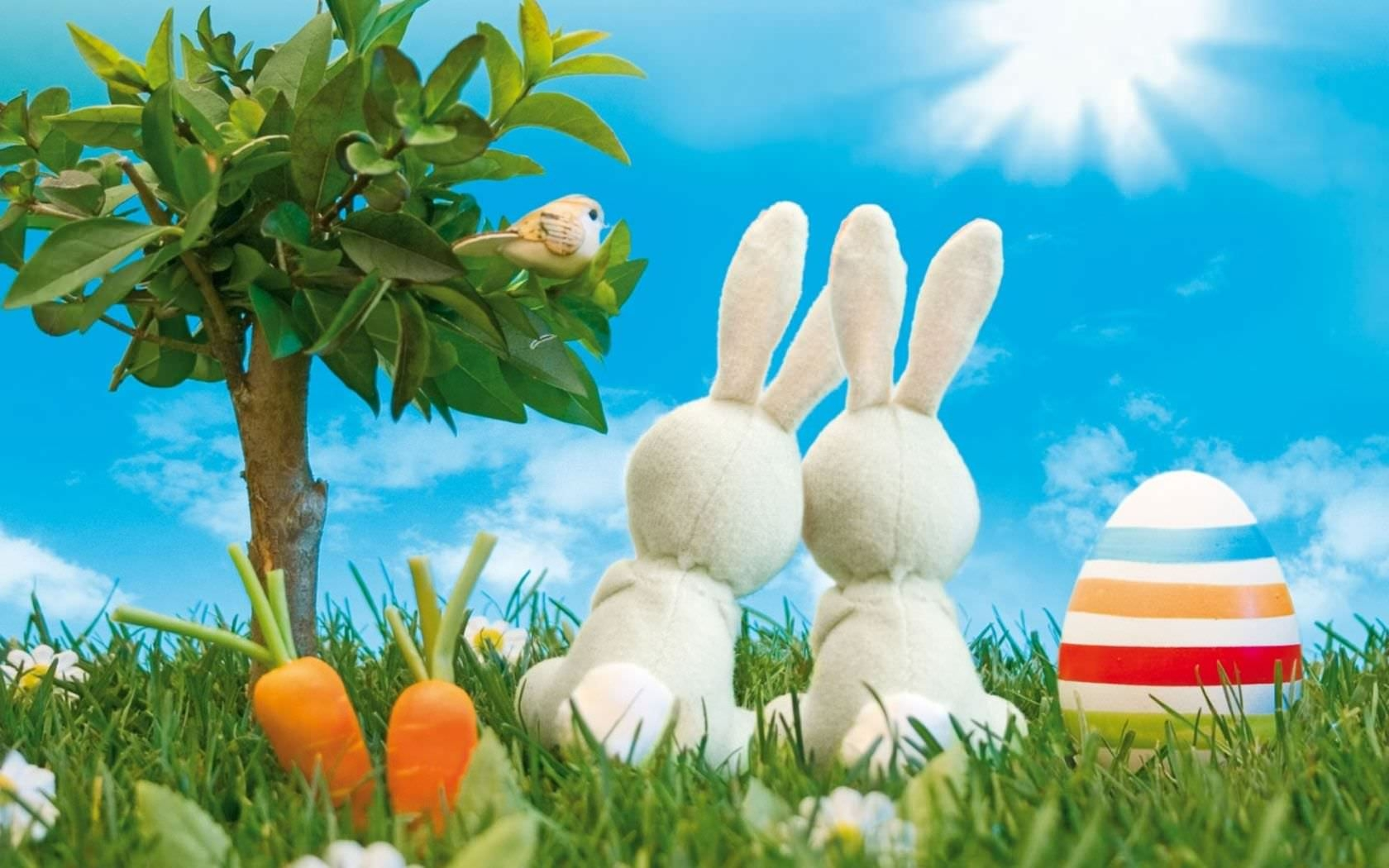 Download Desktop Easter Bunny Wallpaper