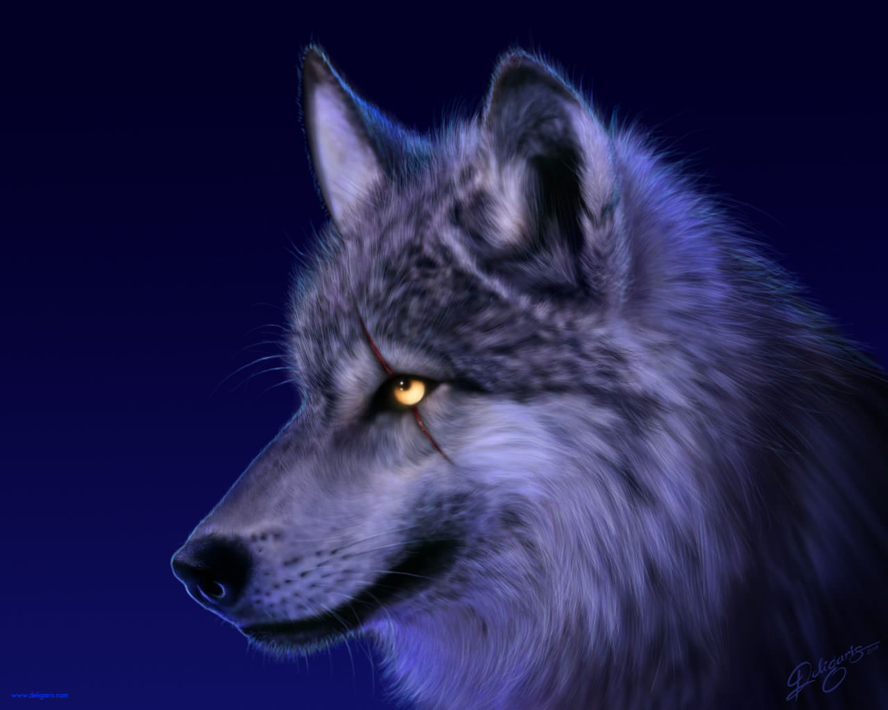 Amazing Wolf Background