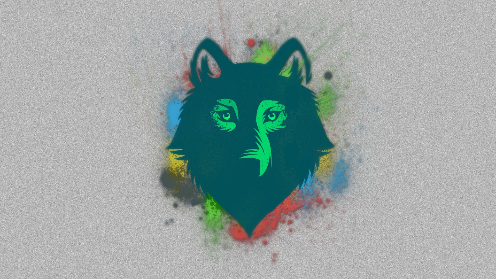 Wolf Face Drawing Background