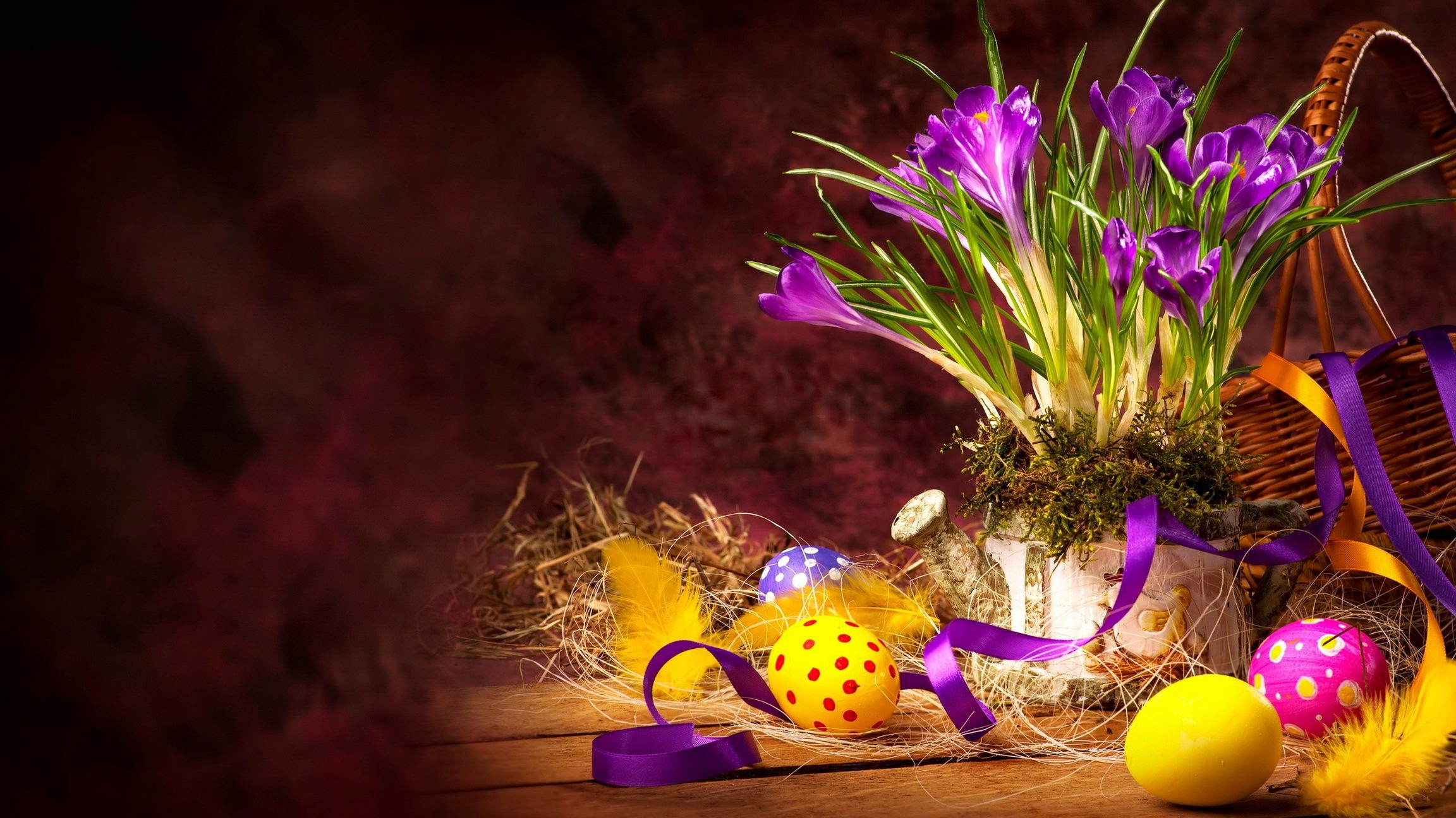 Easter Bouquet Eggs Wallpaper