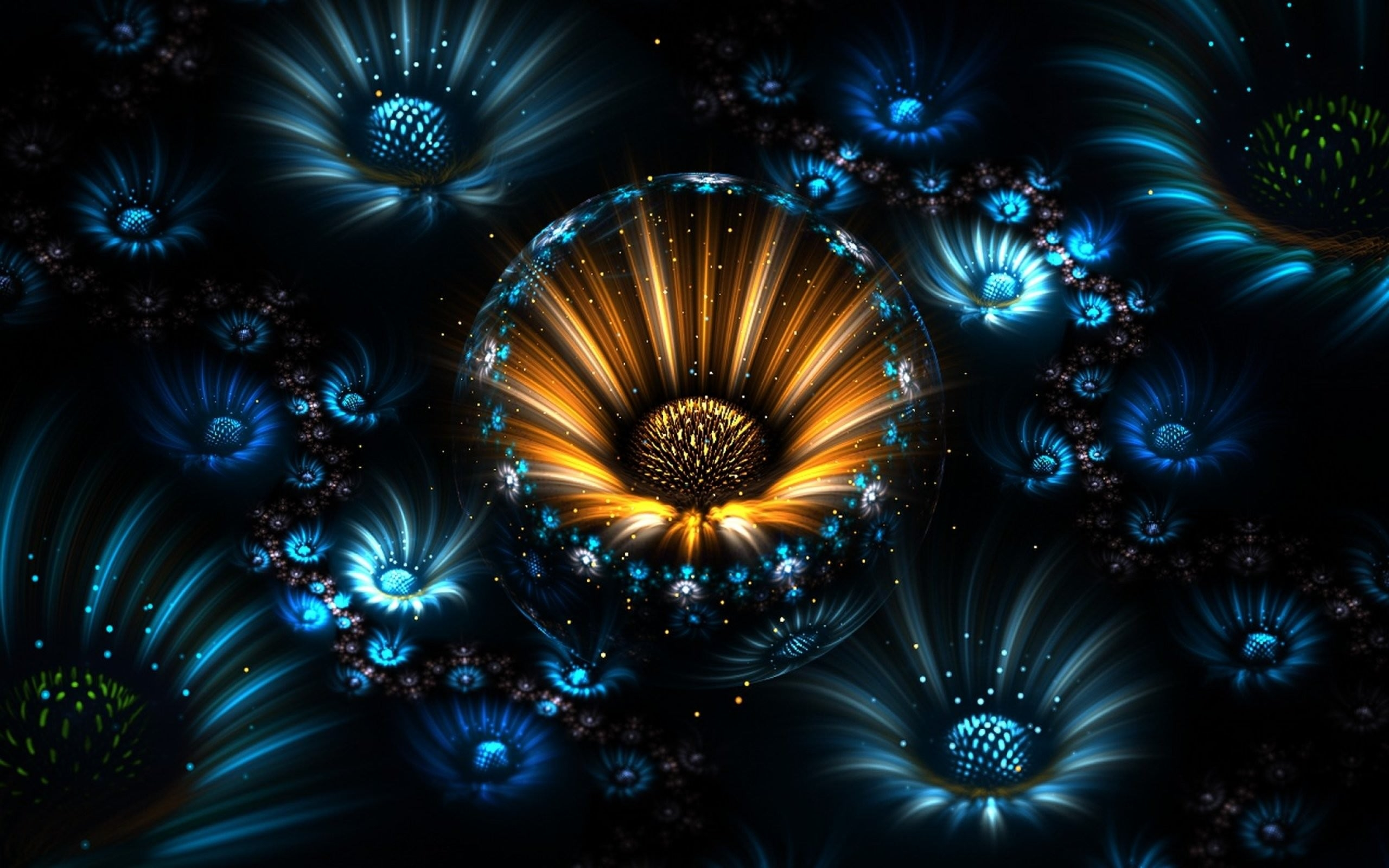 Fractal Flowers Abstract Wallpaper