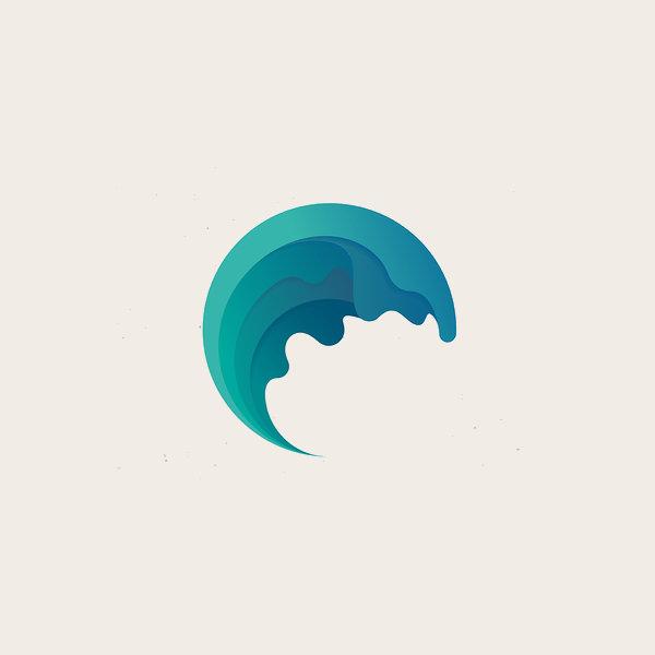 Wave Symbol Logo