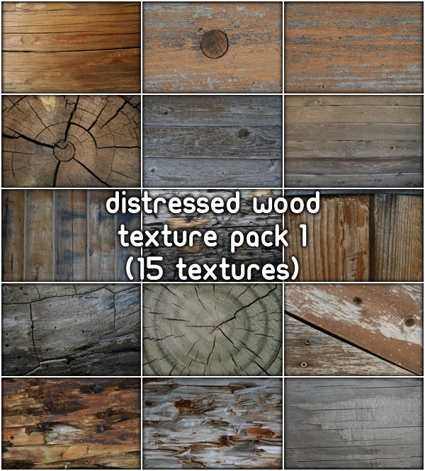 15 Distressed Wood Textures