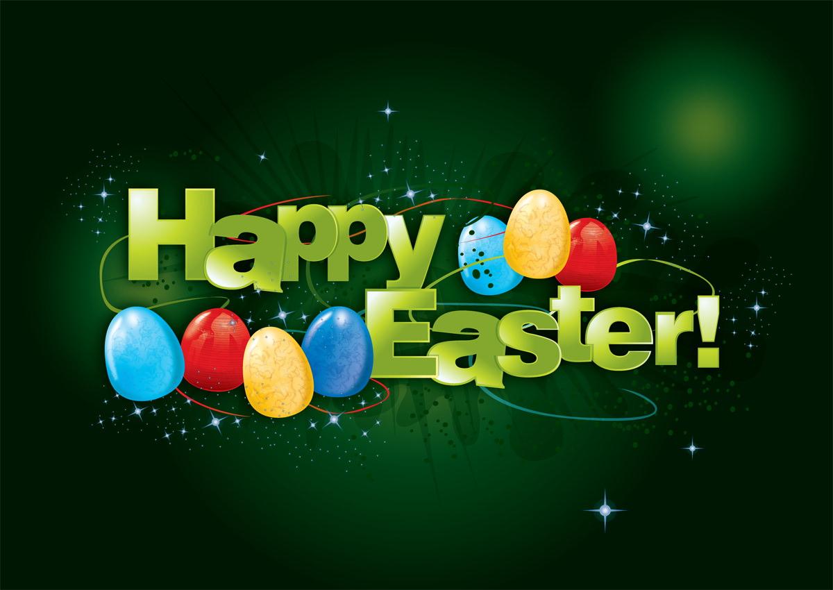 Elegant HD Happy Easter Wallpaper