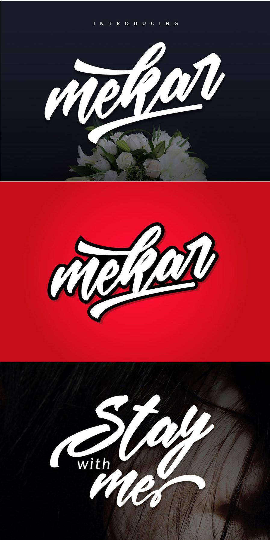 Marvellous Mekar Script Font