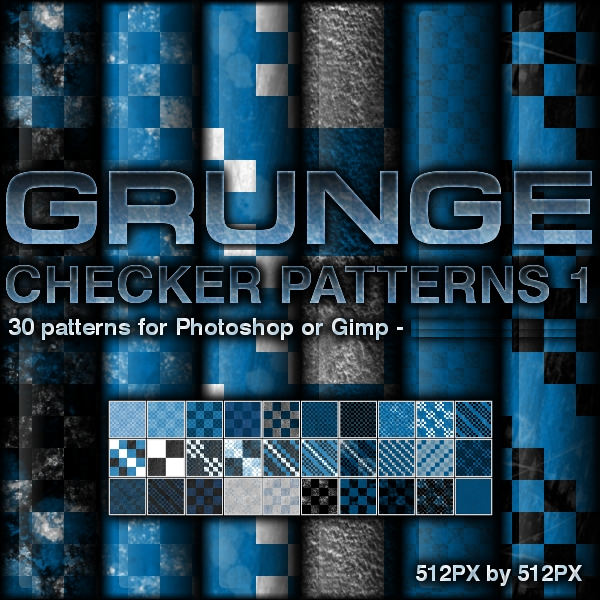 30 Grunge Checkerboard Patterns