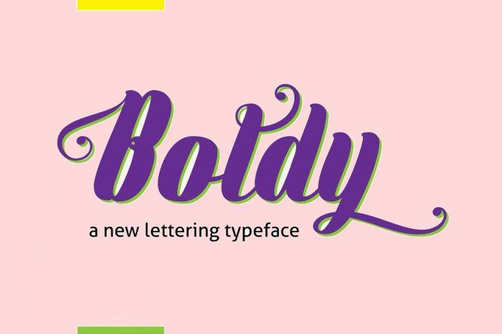 Flat Boldy Typeface Font